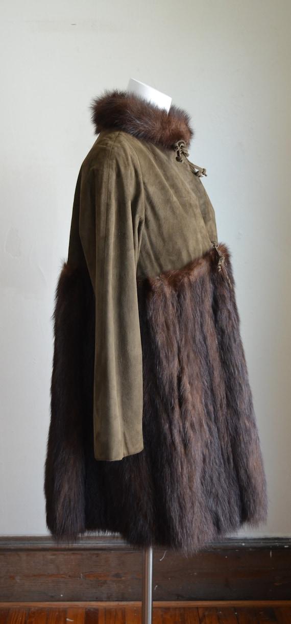 "Stunning Bonnie Cashin Sills Fur & Suede Coat ""Si… - image 4"