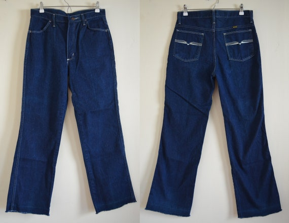 Vintage Maverick Blue Jeans Denim Straight Leg Wai