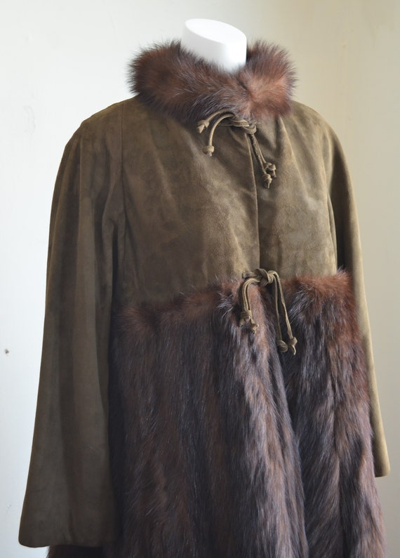 "Stunning Bonnie Cashin Sills Fur & Suede Coat ""Sil"