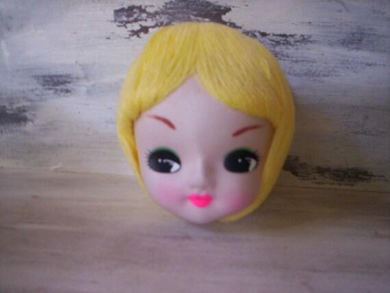 Doll supply/Folk art doll supply/Fabric and foam Doll head supply/Doll head  part/Doll making supply/Female doll head/Vintage doll supply