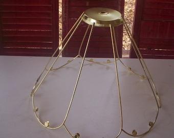 Lamp shade frame etsy vintage bottom bell scallop lamp shadevictorian lamp shade framevintage wire lamp shade aloadofball Images