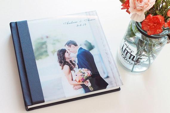 Custom Wedding Photo Album 10x10 Acrylic Cover Wedding Album Etsy
