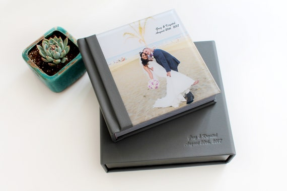 Custom Wedding Photo Album 8x8 Acrylic Wedding Album With 30 Etsy