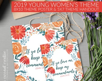 New Beginnings Young Women 2019 Youth Theme 2019 Invitation