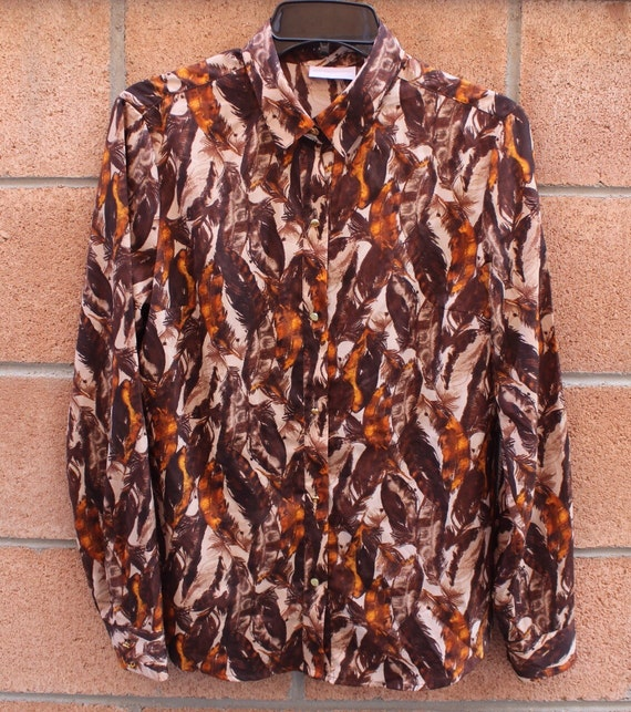 Feather Print Blouse