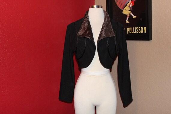 Bolero jacket // BLACK SHORT JACKET // vintage jac