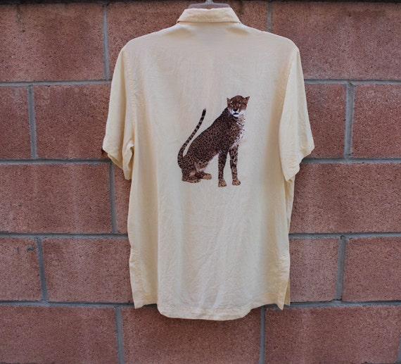 Silk Cheetah print blouse
