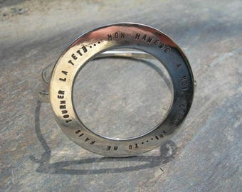 Bangle is customizable in 925 sterling silver.