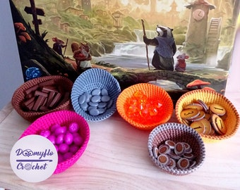 storage Cotton bowls for EVERDELL boardgaming
