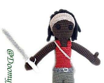 The Walking Dead Michonne cotton crochet Figurine