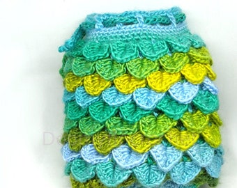 Dragon egg dice bag with scales crocheted board games and role