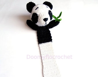 Panda China Cotton crochet bookmark