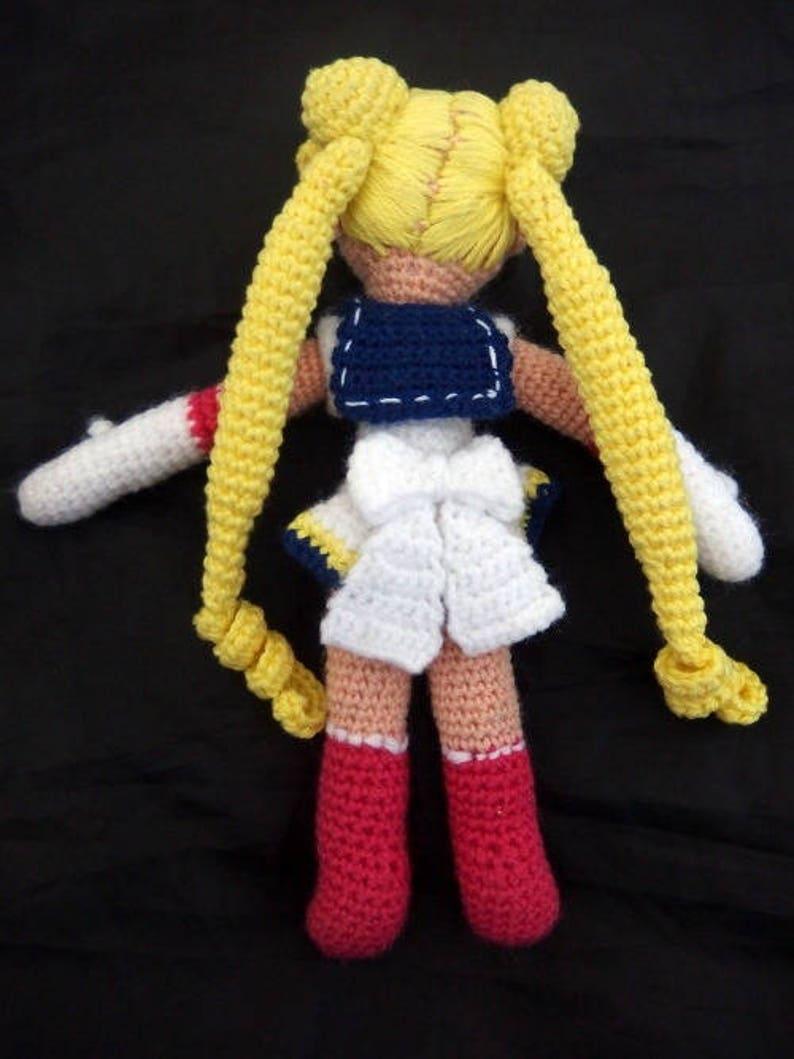 Japanese anime manga Sailor Moon textile crochet amigurumi doll