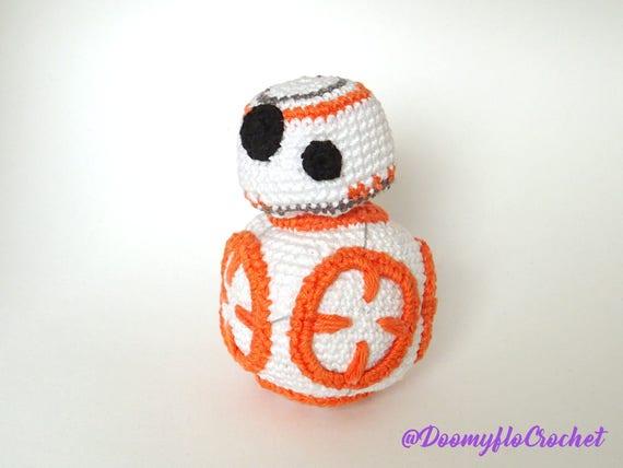 Droid Bb8 Figur Baumwolle Häkeln Star Wars Amigurumi Etsy