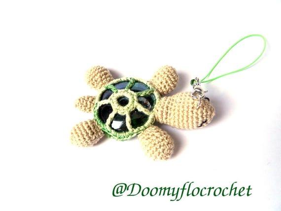 Schildkröte Im Häkeln Baumwolle Und Flache Kugel Aus Glas Etsy