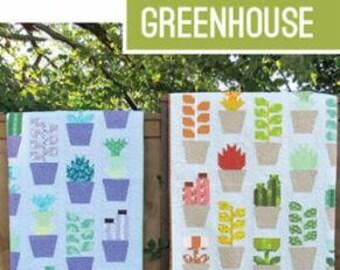 Greenhouse Pattern by Elizabeth Hartman Succulents Quilt Modern Quilt Pattern Plant Quilt Pattern Cactus Pattern Plant Pots Garden Quilt