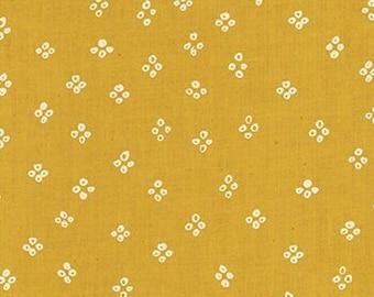 Ruby Star Society Handkerchief Butter by Alexia Abegg Quilt Fabric Yellow Dot Geometric Heirloom Modern New Fabric Moda Cotton