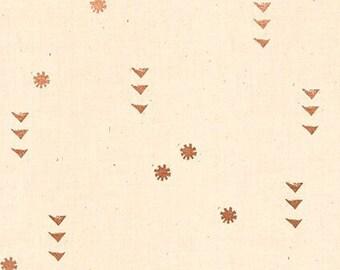 Ruby Star Society Rain Natural Metallic by Alexia Abegg Quilt Fabric Copper Geometric Heirloom Modern New Fabric Moda Cotton