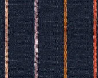 Ruby Star Society Warp & Weft Heirloom Chore Coat Stripe in Navy Alexia Abegg Yarn Dyed Woven Fabric Striped Moda Fabrics Heavyweight