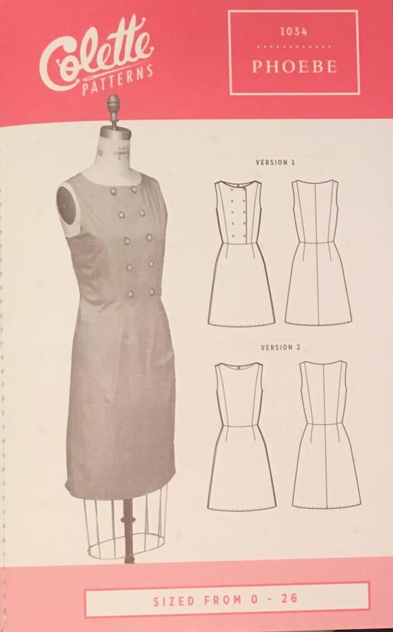 Phoebe Dress Pattern by Colette Patterns - Beginner Shift Dress ...