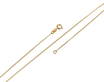 18K YELLOW ROSE WHITE GOLD CHAIN 15.75 IN MADE IN ITALY MINI OVAL LINK 1.8 MM