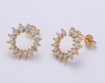 Copper /& bronze earrings Birthday gift Rainbow crystal earrings Cluster Czech earrings For her Aesthetic earrings Crystal earrings
