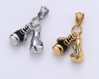10pcs Tibetan Silver Boxing gloves Bead 3D charms Pendants fit bracelet 20x10mm