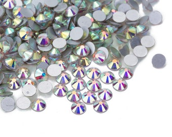 1440 pcs Crystal AB Crystal Aurore Boreale Rhinestones Loose Crystal flat  back No Hot Fix crystal glass bead Size ss 10  ss 12  ss 16  ss 20 ae1e593630d3