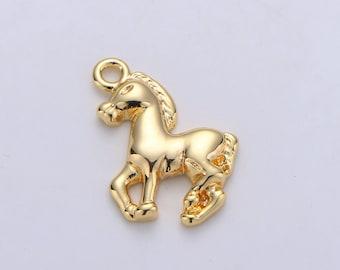 14k Gold Horse Herd Charm