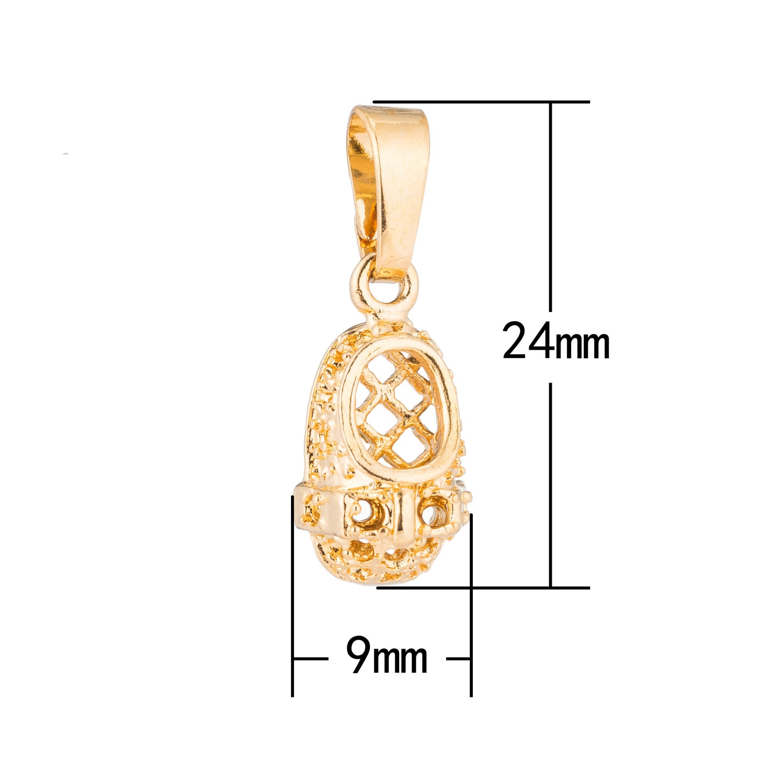 1pc gold cute shoes, ballerina, ballet, flat, fashion, girl, ladies, diy craft necklace pendant charm bead bails findings for je