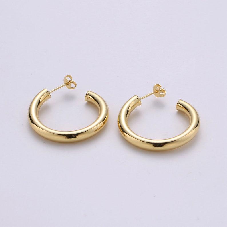 Chunky Gold HoopGold Earrings 14K Gold Filled Earring image 0