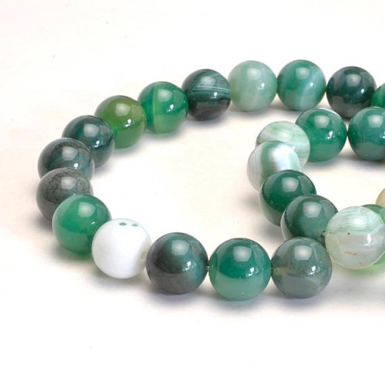 Round Gemstone 4mm 6mm 8mm 10mm Green Moss Agate Beads Healing Wealth Energy Success Power Bracelet Necklace Jewelry Making Bead Making