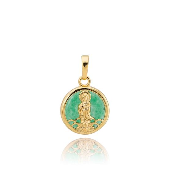 Elegant Green Jade Saint Jesus Protection Catholic Symbols Etsy