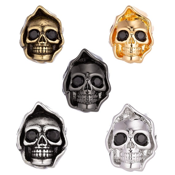 4pcs DIY Pendant Death Grim Reaper Charm Connector for Necklace Jewelry Findings