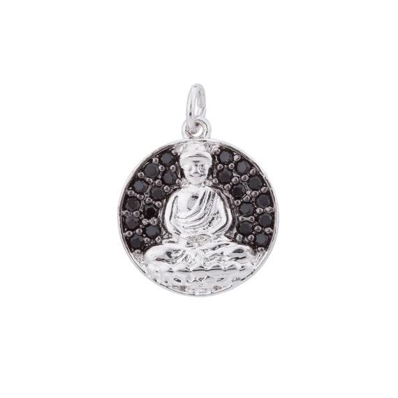 2pcs Silver Buddha Charm Buddhism Buddhist Peace Zen Diy Etsy