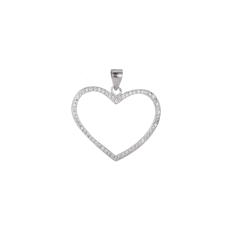 stamped 925 Vintage sterling silver cz crystal pendant 925 silver teardrop pendant