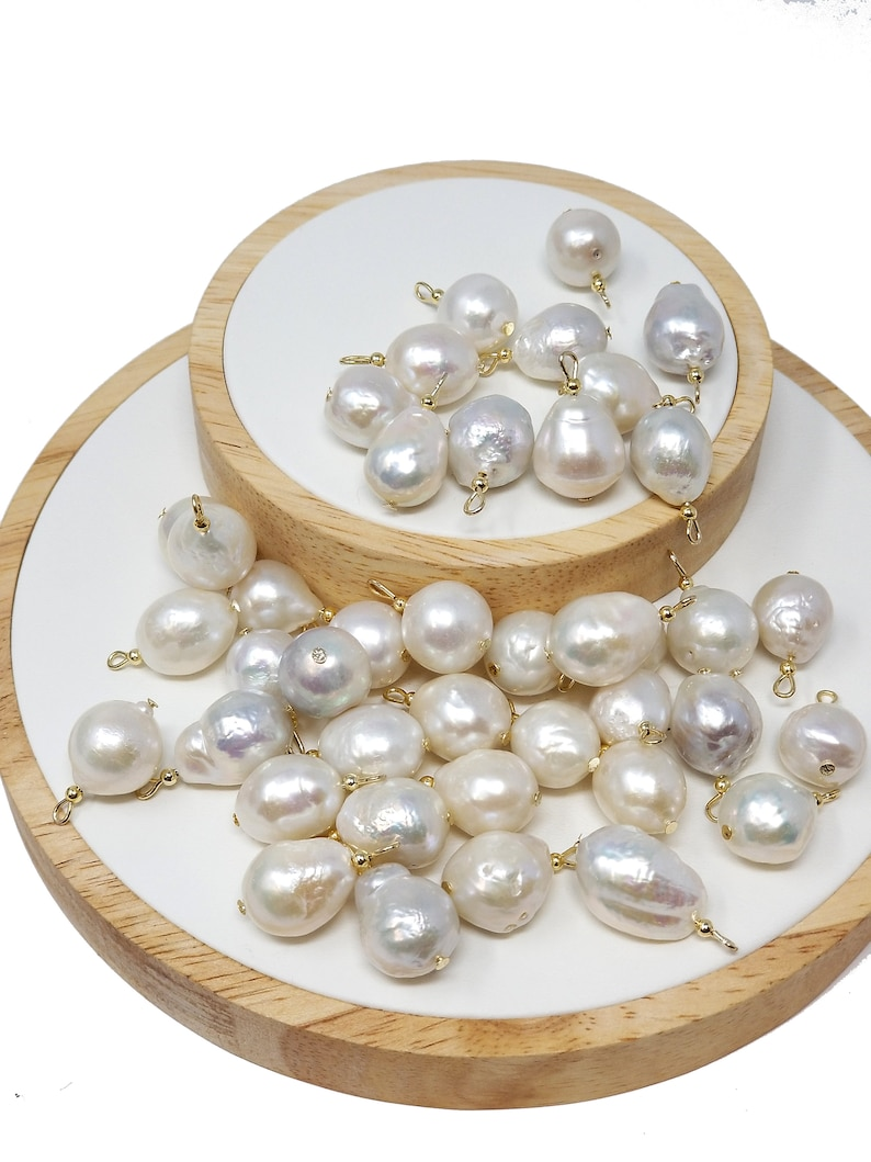 Freeform Baroque pearl charms pearl charm Bracelet Necklace Earring Charm Dainty Fresh water pearl charms