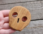 Scull - OAK-teether, natural, eco-friendly - Natural Wooden Toy - Oak Teether - Handmade wooden teether