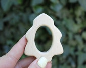 Christmas-tree wooden teether, natural, eco-friendly - Natural Wooden Toy - Teether - Handmade wooden teether