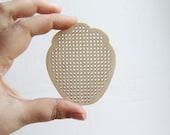 SET OF 5 - Strawberry Cross stitch pendant blank - blanks Wood Needlecraft Pendant, Necklace or Earrings - Strawberry-ODV17