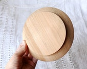 Wooden plate 15 cm 5,90 inch unfinished natural eco friendly