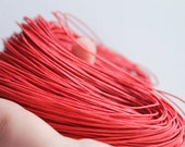 Red  Wax Cotton Cord 1mm 10 meters - 10,9 yards or 32,8 feet
