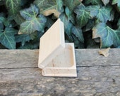 Book-box 95x75x37 mm - eco-friendly - made from alder wood - wooden book-box