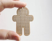 SET OF 5 - Man Cross stitch pendant blank - blanks Wood Needlecraft Pendant, wooden cross stitch blank MAN -ODV43
