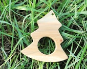 Juniper teether- Christmas tree - eco-friendly wooden toy - made from aroma juniper
