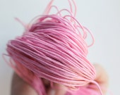 Pink  Wax Cotton Cord 1mm 10 meters - 10,9 yards or 32,8 feet