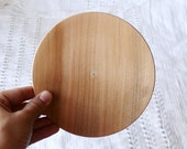 Wooden plate 13 cm 5,31 inch unfinished natural eco friendly