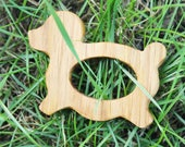 Dog-teether, natural, eco-friendly - Natural Wooden Toy - Oak Teether - Handmade wooden teether