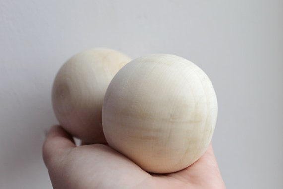 Natural Wooden Craft Wood Balls Sphere Round Craft 6mm to 60mm Dia Handmate