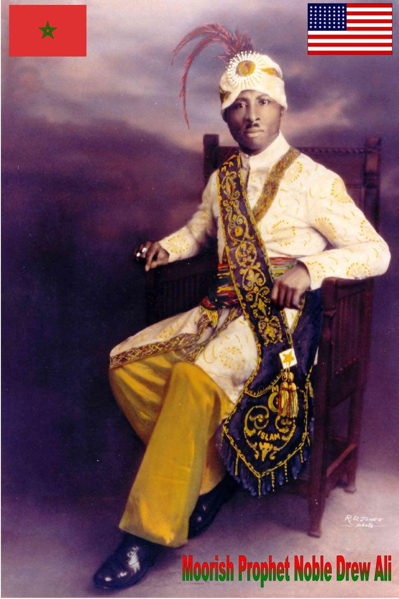 Great Moorish Men, Moors, Prophet Noble Drew Ali,The Moorish Science Temple  of America pictures, prints, posters